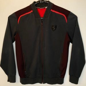 Puma Ferrari Men's Track Jacket Black Full Zip M
